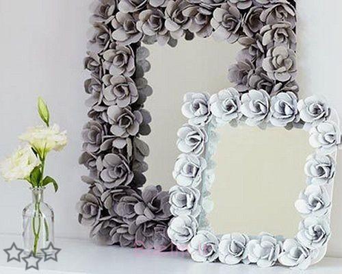 آینه های تزئینی قاب کارتن تخم مرغ تخم مرغ باور نکردنی کارتن گل آینه ایده های الهام بخش