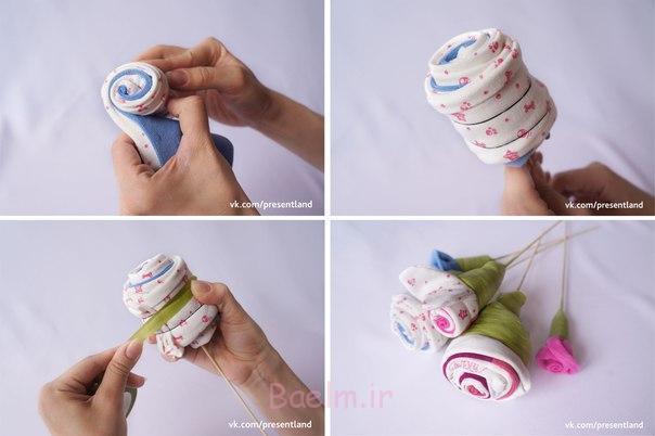 چگونه به DIY-بچه-لباس-گل-دسته گل-4