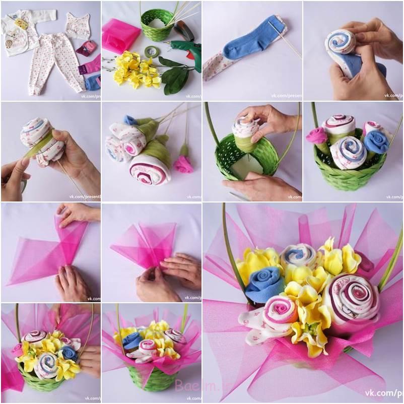 چگونه به DIY لباس لباس نوزاد دسته گل بازیافت قدیمی نوزاد به این دسته گل شگفت انگیز