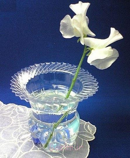 پلاستیک، بطری، گلدان برای--1