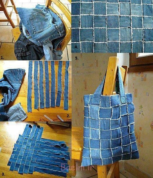Reuse Old Jeans to Make a New Handbag DIY Wonderful DIY New Handbag From Old Jeans