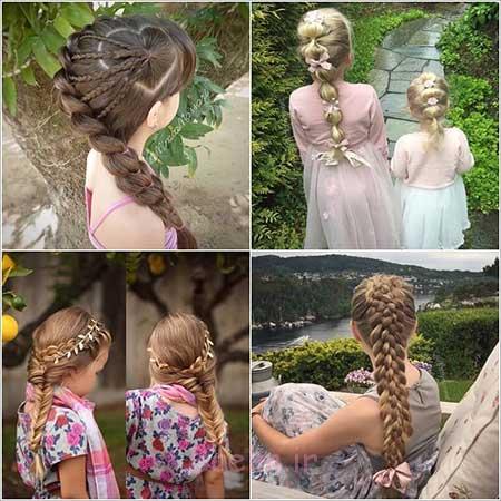 بچه گانه | 2016| مدل جدید بافتن موی دختر بچه مدل موی بلند