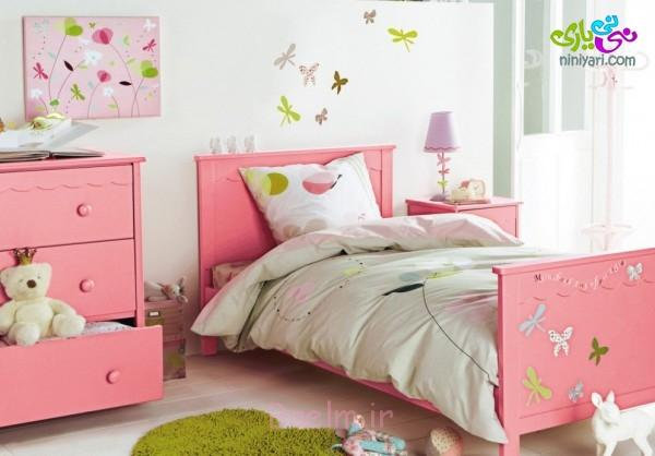 beautiful-girls-bedroom-ideas-with-lovely-pink-bed-frame-colors-feat-storage-cabinet-also-white-laminate-wood-flooring-ideas-994x694