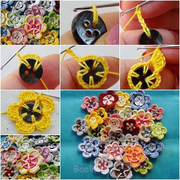 قلاب دوزی-دکمه flower1