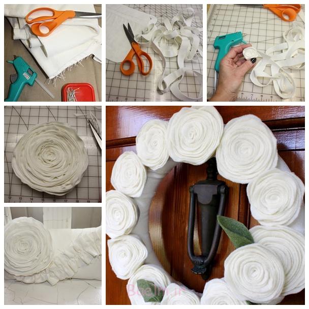 احساس گل F شگفت انگیز احساس زیبا DIY گل تاج گل بالش و