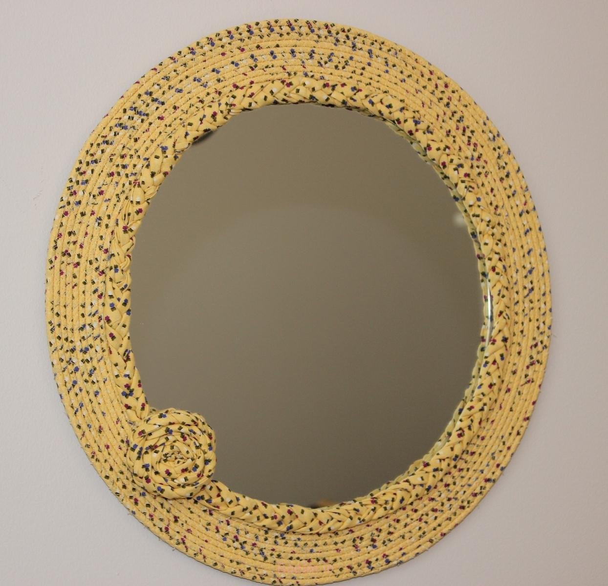 floral style skin color Beautiful Decorative Mirrors