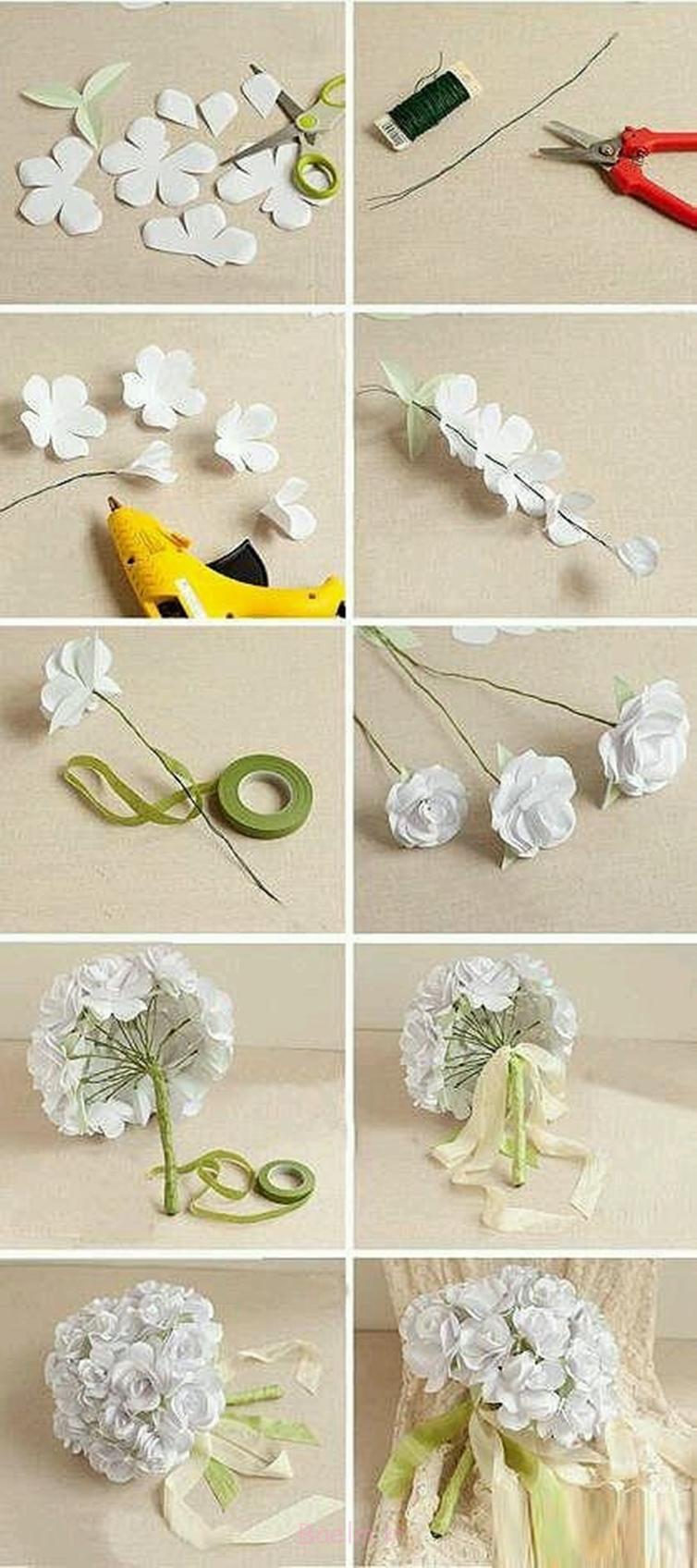 دسته گل برای عروسی شگفت انگیز دسته گل DIY برای عروسی M1