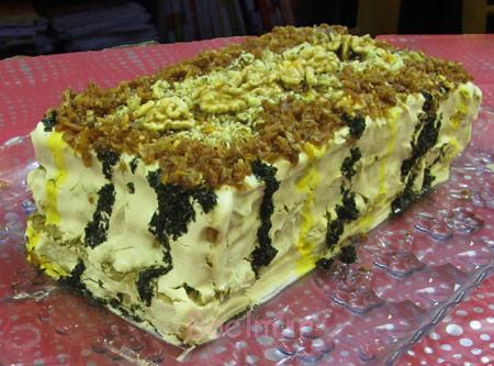 کیک کشک و بادمجان,طرز تهیه کیک کشک و بادمجان