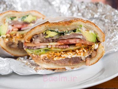 درست کردن ساندویچ زبان مکزیکی,طرز تهیه ساندویچ زبان