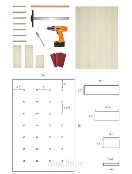 طرز ساخت طاقچه چوبی آشپزخانه,نحوه ساخت طاقچه چوبی