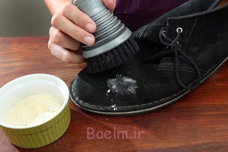 تمیز کردن کفش جیر با وسایل خانگی, طرز تمیز کردن کفش جیر
