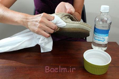 تکنیک های تمیز کردن کفش جیر,تمیز کردن کفش مخمل