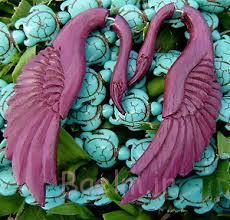 new pink color swan wooden gauge earrings 2014
