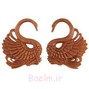 swan girls wooden gauge earrings 2014