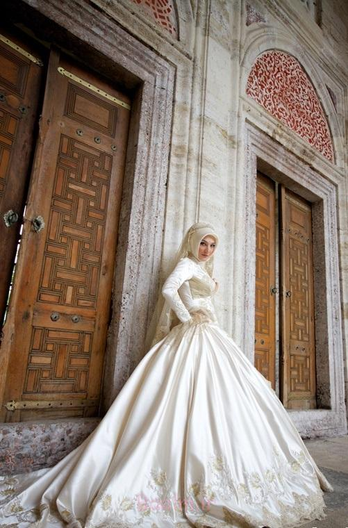 15baa69eaf5245183f98a3735d4c07ee Modern Islamic Wedding Dresses 2015/2016