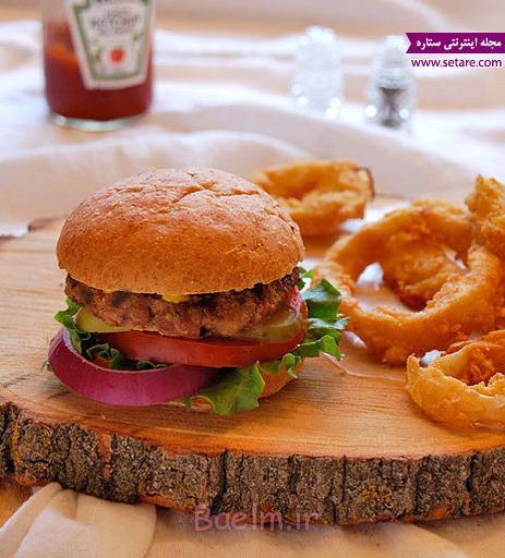 همبرگر مک دونالد،همبرگر رژیمی،طرز تهیه نان همبرگر،طرز تهیه همبرگر خانگی