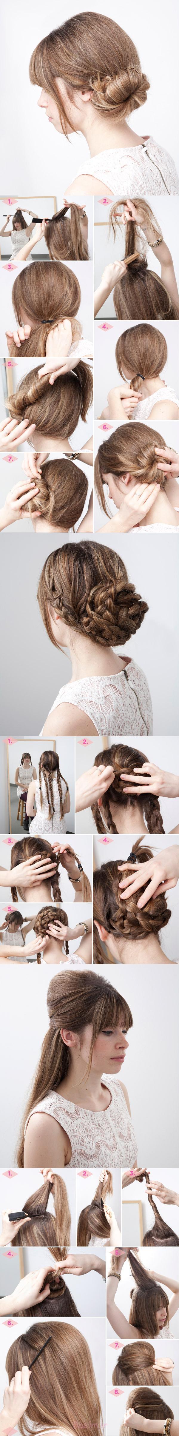 آه ساده مستی مدل مو آموزش 3 در 1 مدل موهای آموزش شگفت انگیز 13 ساده مدل مو مستی
