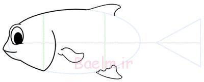 نقاشی ماهی،آموزش نقاشی ماهی