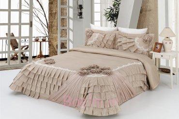 Bouquet Bedspread - Cappucino