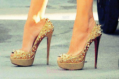 مد دختر طلا بالا پاشنه کفش-Favim.com-416312