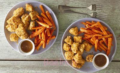 مرغ پاپ کورن و سیب زمینی سوخاری, طرز تهیه مرغ پاپ کورن