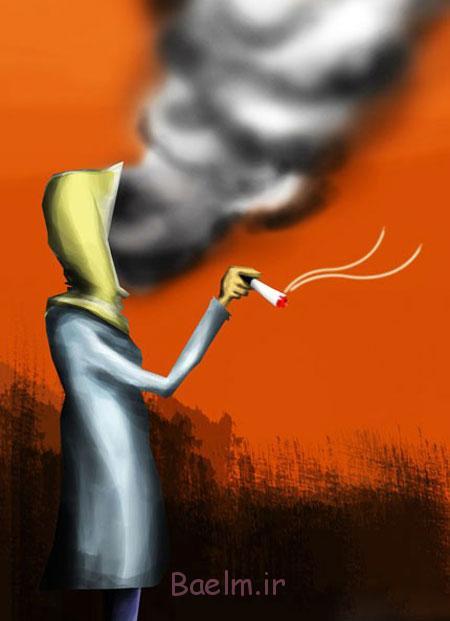 کاریکاتور اعتیاد, کاریکاتور سیگار کشیدن
