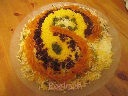 تزیینات برنج, تزیین برنج و پلو