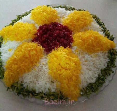 تزیین برنج مجلسی, تزیینات برنج