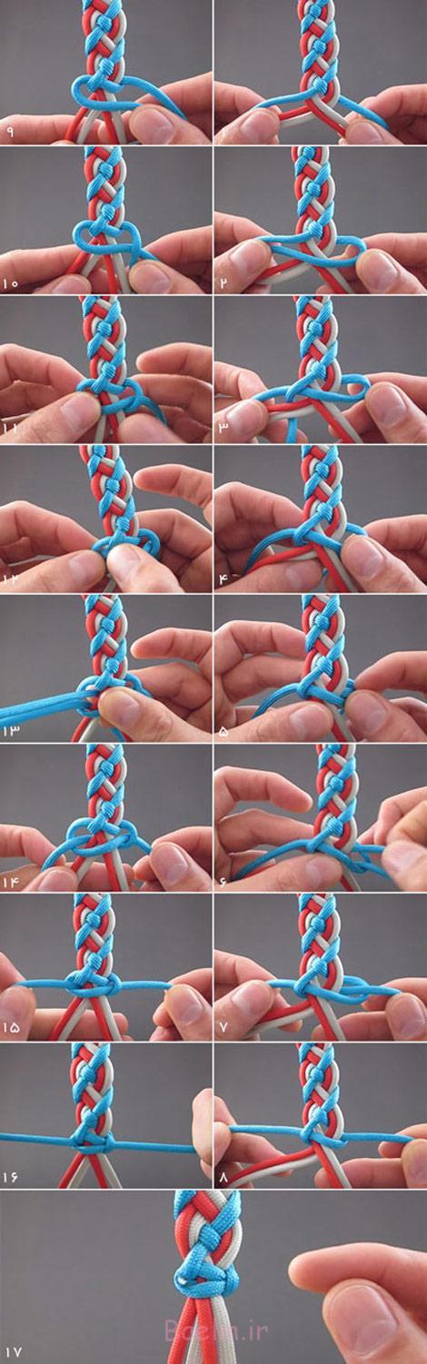 آموزش بافت دستبند, آموزش تصویری بافت دستبند