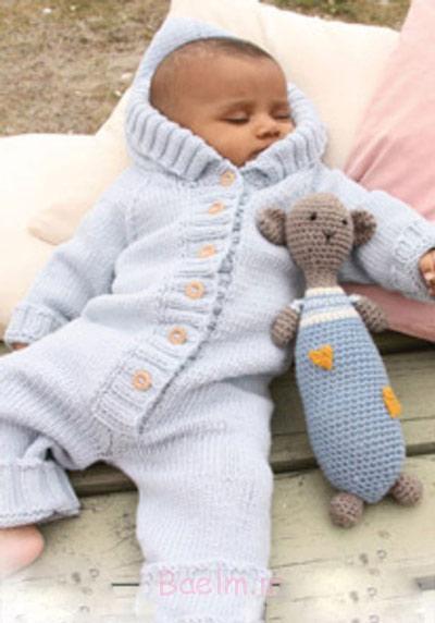 بافت لباس سرهمی نوزاد,آموزش بافت لباس سرهمی نوزاد