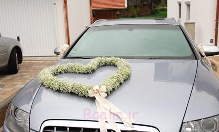 گل کاری ماشین عروس,تزیین ماشین عروس قدیمی