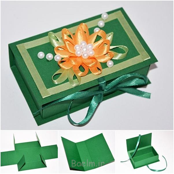 مقاله جعبه هدیه از قالب DIY شگفت انگیز جعبه آسان کاغذ کادو