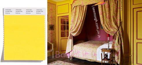 رنگ زرد مایل به خردلی