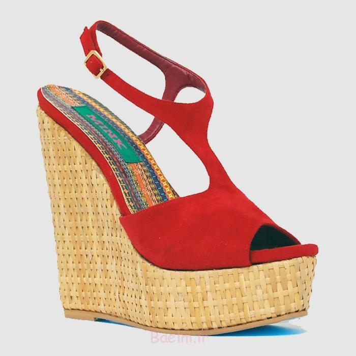Vegane Schuhe Rebecca Mink Designerschuhe keilabsatz rot
