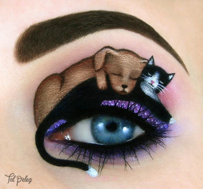 augen schminke maskenbildnerin Tal Peleg katze und hund