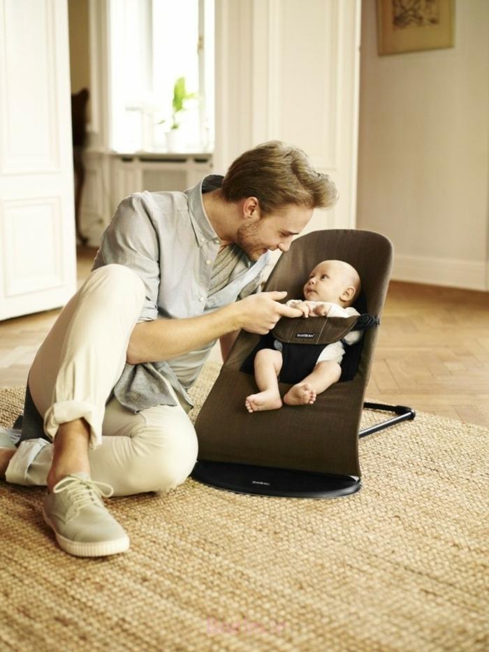 babyschaukel modernes design vater kind