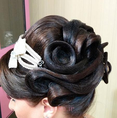 شینیون موی عروس جدید, شینیون موی عروس 95, شینیون موی عروس 2016,