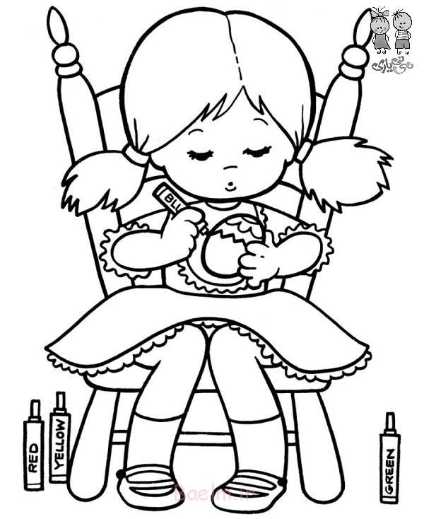 cute-little-girl-coloring-egg-easter-coloring-pages
