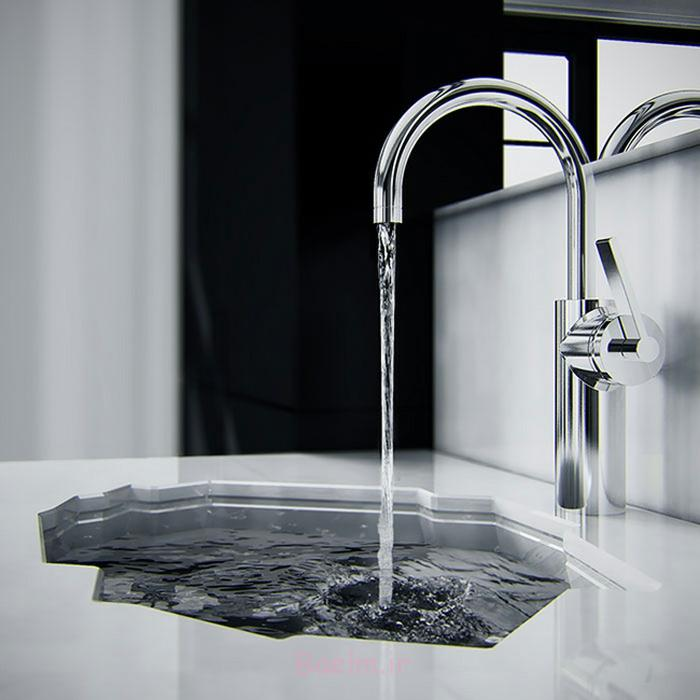 designer waschbecken arktisches design minimalistisch eis