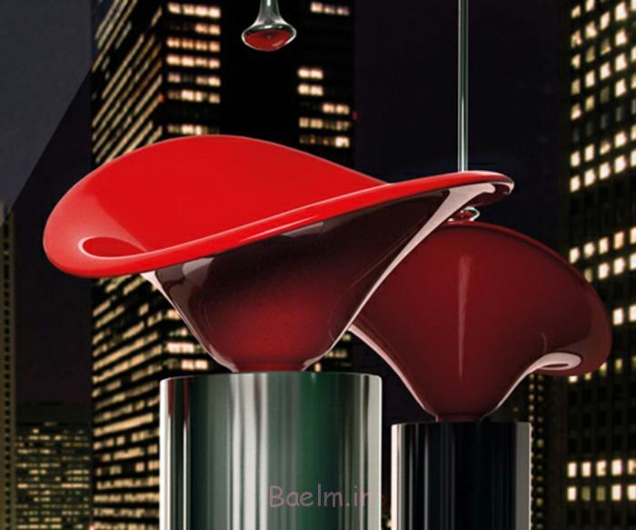 designer waschbecken blumen design rot glassdesign