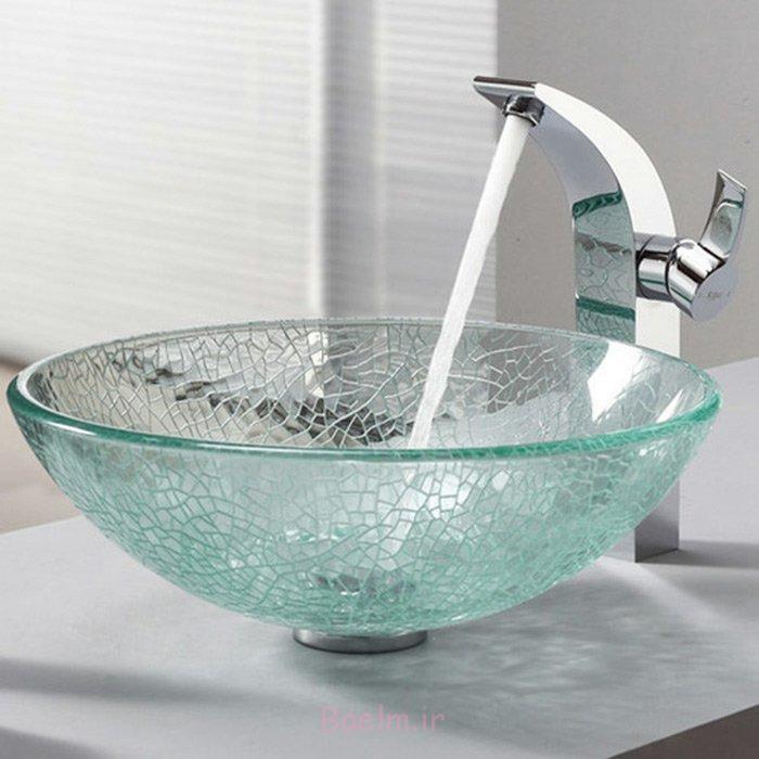 designer waschbecken modernes design glas schüsselförmig
