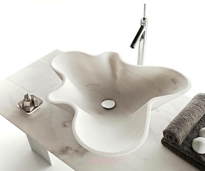 designer waschbecken muschel design marmor