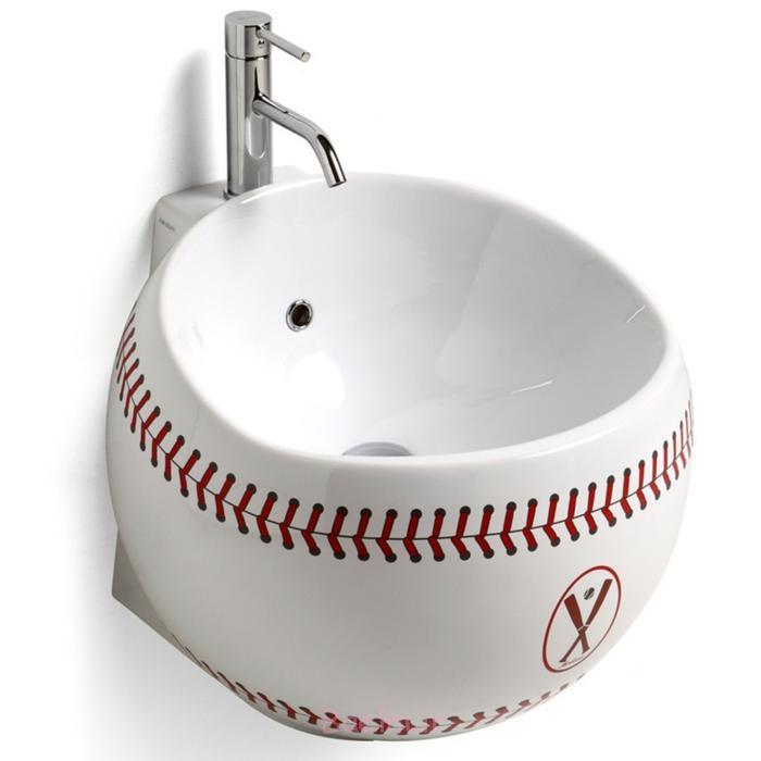 designer waschbecken weiß rund baseball design babatude