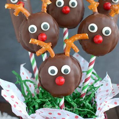 تزیین شیرینی کریسمس به شکل گوزن,طرز تهیه شیرینی گوزنی