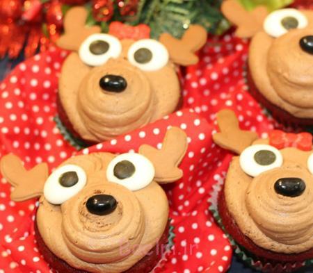 آموزش شیرینی به شکل گوزن, آموزش تصویری تزیین شیرینی های کریسمس