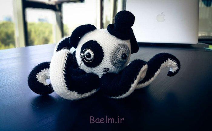 häkeln lernen strickarbeit panda oktopus schwarz weiß
