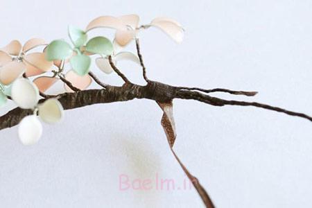 نحوه ساخت گل سر,گل سر با سیم و لاک ناخن
