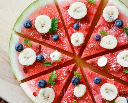 طرز تهیه پیتزا با هندوانه, درست کردن پیتزا با هندوانه