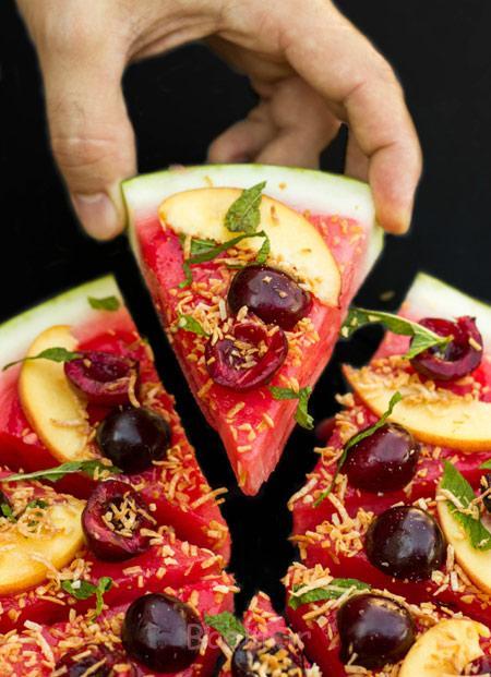 هندوانه شب یلدا, هندوانه به شکل پیتزا