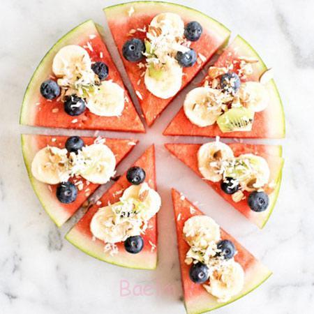 تزیین هندوانه به شکل پیتزا, تزیین هندوانه شب یلدا